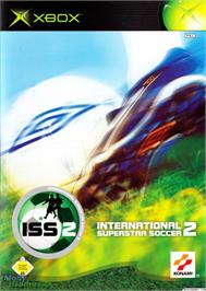 Box cover for International Superstar Soccer 2 on the Microsoft Xbox.