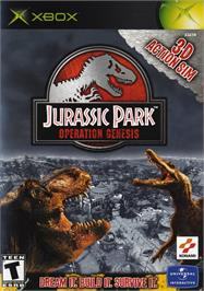 Box cover for Jurassic Park: Operation Genesis on the Microsoft Xbox.