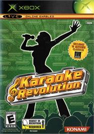 Box cover for Karaoke Revolution on the Microsoft Xbox.