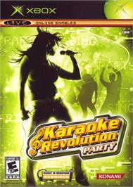 Box cover for Karaoke Revolution Party on the Microsoft Xbox.