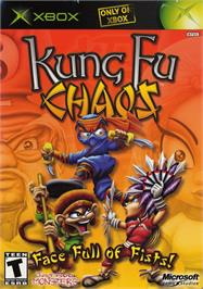Box cover for Kung Fu Chaos on the Microsoft Xbox.