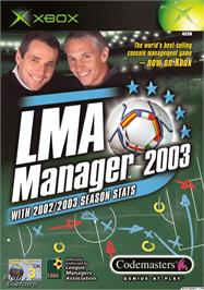 Box cover for LMA Manager 2003 on the Microsoft Xbox.