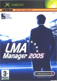 Box cover for LMA Manager 2005 on the Microsoft Xbox.