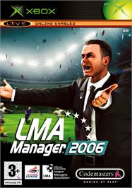 Box cover for LMA Manager 2006 on the Microsoft Xbox.
