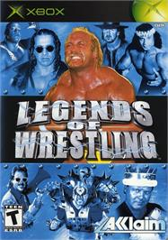 Box cover for Legends of Wrestling on the Microsoft Xbox.