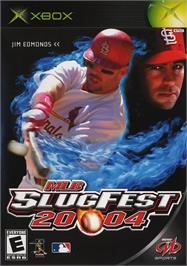 Box cover for MLB SlugFest 20-04 on the Microsoft Xbox.