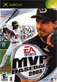 Box cover for MVP Baseball 2003 on the Microsoft Xbox.