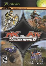 Box cover for MX vs. ATV Unleashed on the Microsoft Xbox.