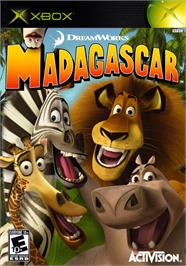 Box cover for Madagascar on the Microsoft Xbox.