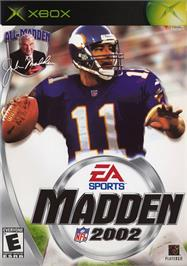 Box cover for Madden NFL 2002 on the Microsoft Xbox.