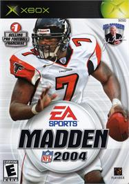 Box cover for Madden NFL 2004 on the Microsoft Xbox.