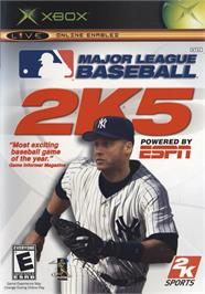 Box cover for Major League Baseball 2K5 on the Microsoft Xbox.