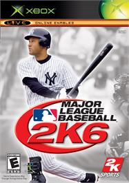 Box cover for Major League Baseball 2K6 on the Microsoft Xbox.