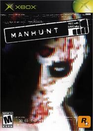 Box cover for Manhunt on the Microsoft Xbox.