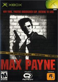 Box cover for Max Payne on the Microsoft Xbox.