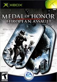Box cover for Medal of Honor: European Assault on the Microsoft Xbox.