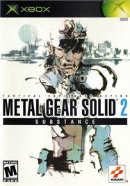 Box cover for Metal Gear Solid 2: Substance on the Microsoft Xbox.