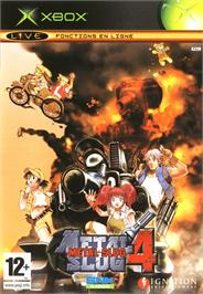 Box cover for Metal Slug 4 on the Microsoft Xbox.