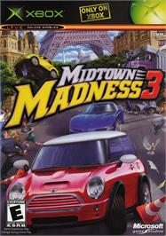 Box cover for Midtown Madness 3 on the Microsoft Xbox.