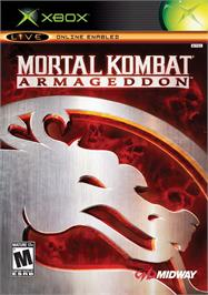 Box cover for Mortal Kombat: Armageddon on the Microsoft Xbox.