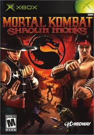 Box cover for Mortal Kombat: Shaolin Monks on the Microsoft Xbox.