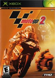 Box cover for MotoGP 2 on the Microsoft Xbox.