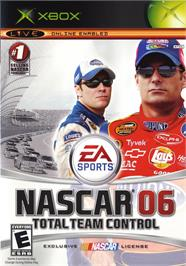 Box cover for NASCAR 06: Total Team Control on the Microsoft Xbox.