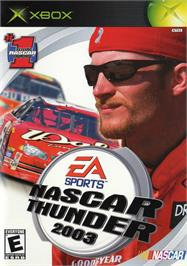 Box cover for NASCAR Thunder 2003 on the Microsoft Xbox.