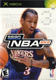 Box cover for NBA 2K2 on the Microsoft Xbox.