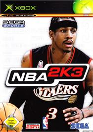 Box cover for NBA 2K3 on the Microsoft Xbox.