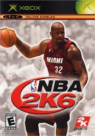 Box cover for NBA 2K6 on the Microsoft Xbox.