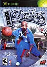 Box cover for NBA Ballers: Phenom on the Microsoft Xbox.