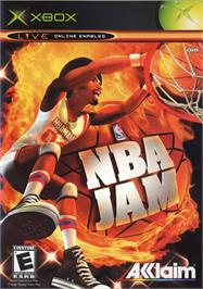 Box cover for NBA Jam on the Microsoft Xbox.