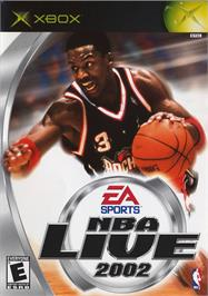 Box cover for NBA Live 2002 on the Microsoft Xbox.