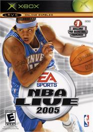 Box cover for NBA Live 2005 on the Microsoft Xbox.