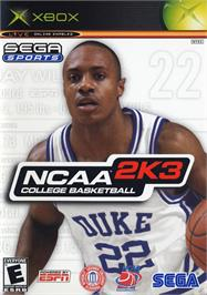 Box cover for NCAA College Basketball 2K3 on the Microsoft Xbox.