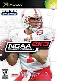 Box cover for NCAA College Football 2K3 on the Microsoft Xbox.