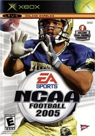 Box cover for NCAA Football 2005 on the Microsoft Xbox.