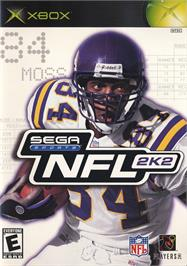 Box cover for NFL 2K2 on the Microsoft Xbox.