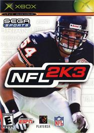 Box cover for NFL 2K3 on the Microsoft Xbox.
