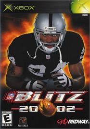 Box cover for NFL Blitz 20-02 on the Microsoft Xbox.