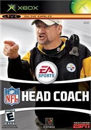 Box cover for NFL Head Coach on the Microsoft Xbox.