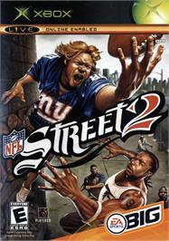 Box cover for NFL Street 2 on the Microsoft Xbox.
