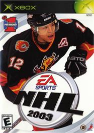 Box cover for NHL 2003 on the Microsoft Xbox.