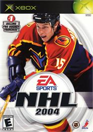 Box cover for NHL 2004 on the Microsoft Xbox.