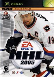Box cover for NHL 2005 on the Microsoft Xbox.