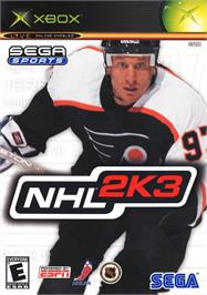 Box cover for NHL 2K3 on the Microsoft Xbox.
