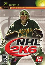 Box cover for NHL 2K6 on the Microsoft Xbox.