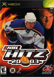 Box cover for NHL Hitz 20-03 on the Microsoft Xbox.