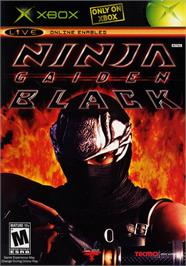 Box cover for Ninja Gaiden Black on the Microsoft Xbox.